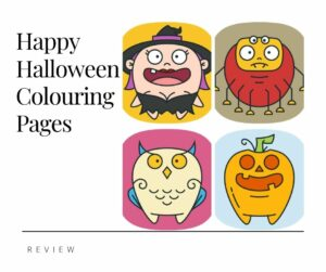 Happy Halloween Colouring Pages