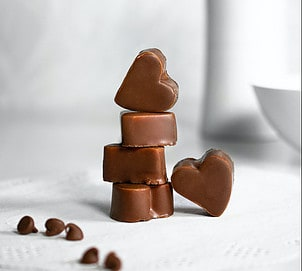 Chocolate heart shaped