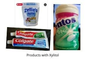 Products with xylitol