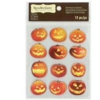 Pumpkin Stickers for Halloween