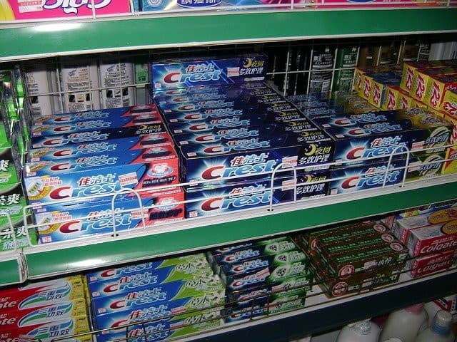 Toothpastes in Store