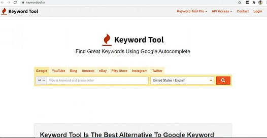 What is keyword Research Tool?